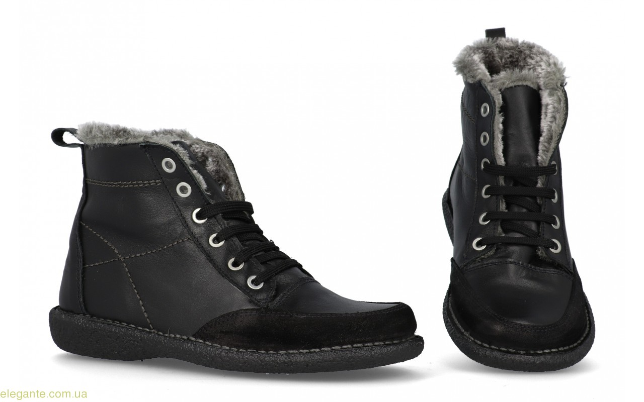 Женские ботинки на меху DIGO чёрные 1