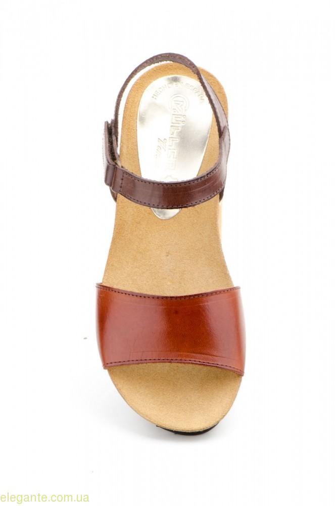 Жіночі сандалії MULLER коричневі 0
