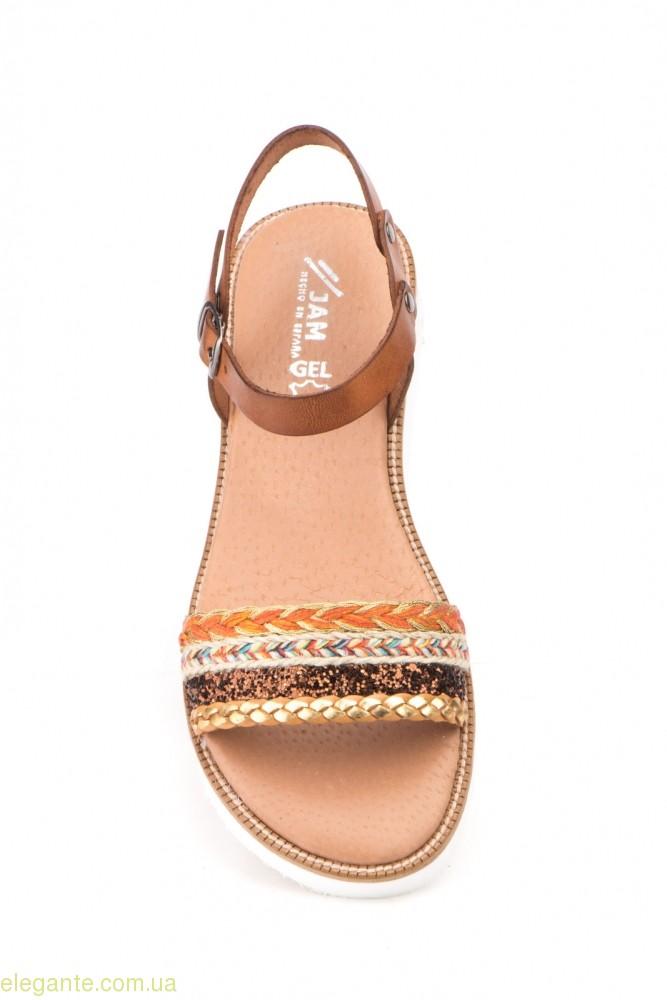Жіночі сандалії MISTRAL коричневі 0
