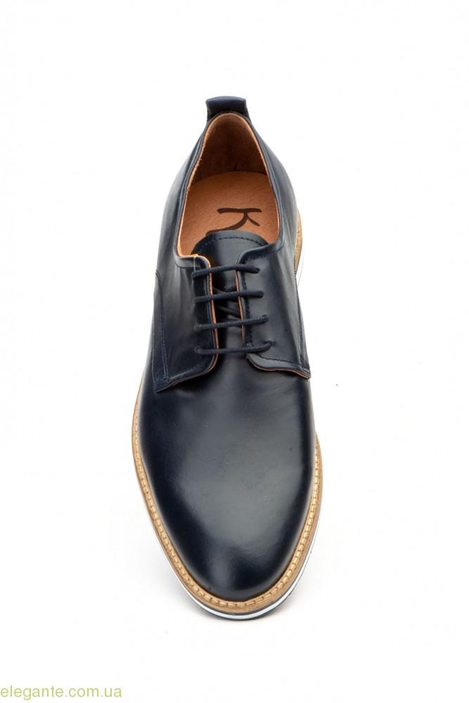 Мужские туфли дерби гладкие KEELAN синие 0