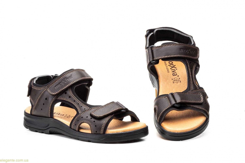 Чоловічі сандалі на липучці Morxiva коричневі 0