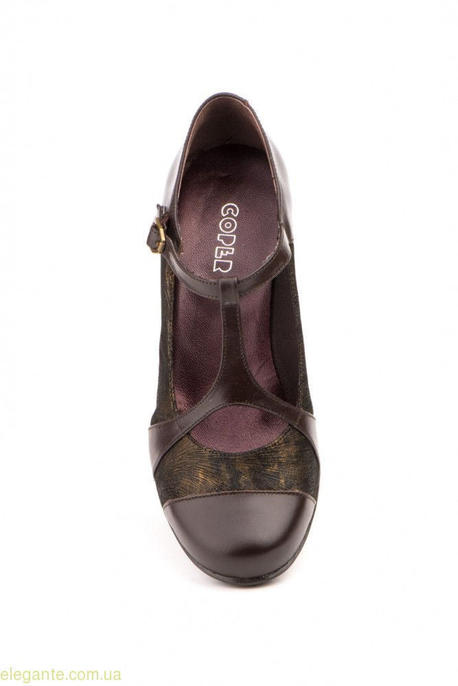 Жіночі туфлі на каблуку GAVIS коричневі 0