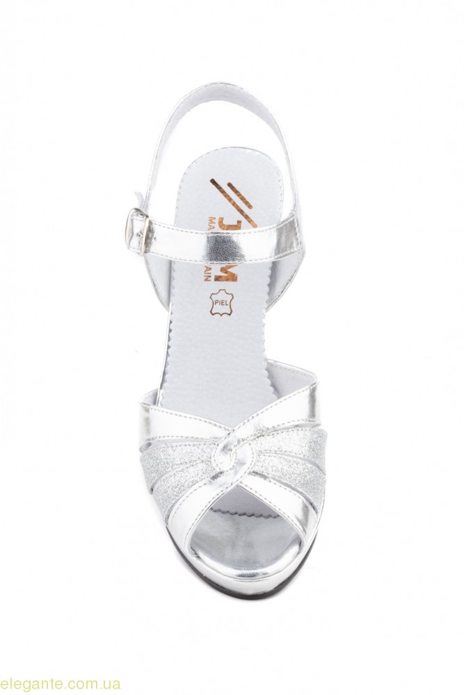 Жіночі босоніжки святкові JAM срібні 0
