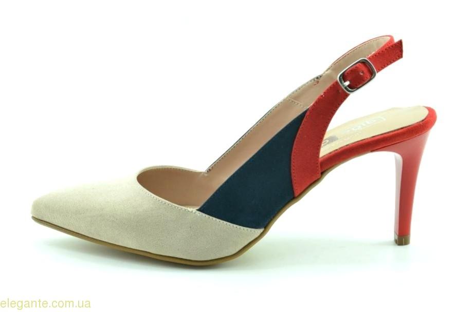 Жіночі відкриті туфлі на каблуку DIGO DIGO тілесно-червоні 0
