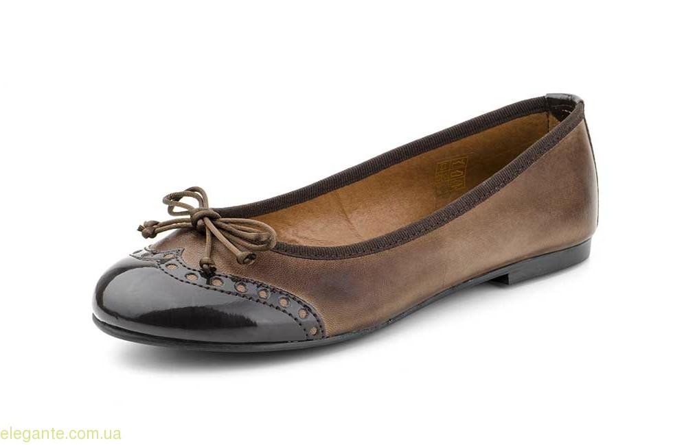 Жіночі балетки MULTHO коричневі 0