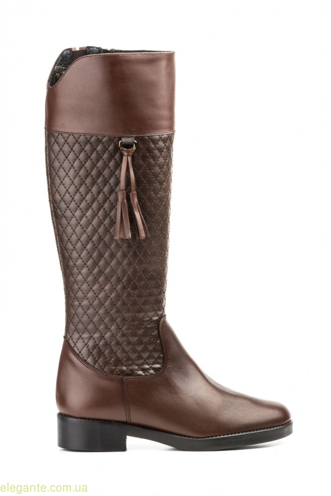 Женские сапоги JAM1 с кисточками коричневые 0