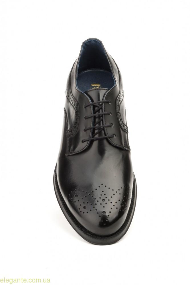 Чоловічі туфлі дербі SCN3 чорні 0