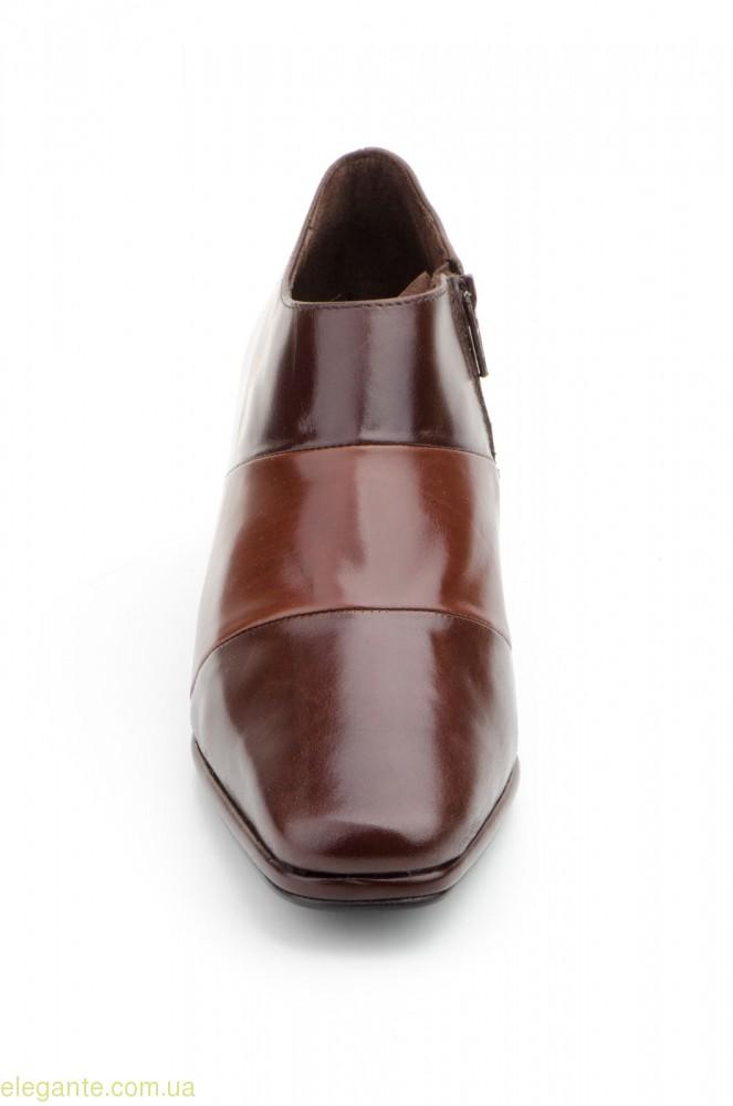 Женские туфли на молнии JAM коричневые 0