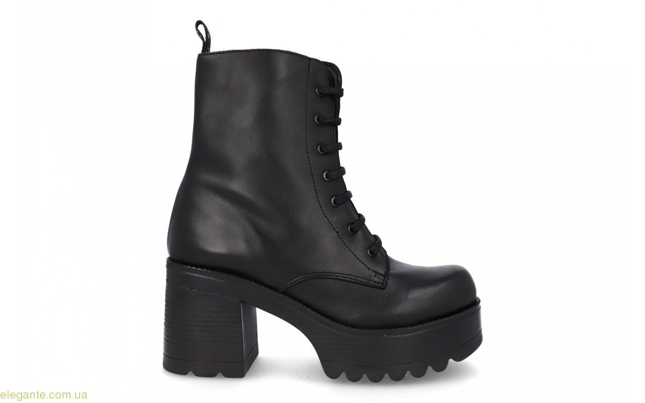 Женские ботинки на каблуку JARPEX чёрные 0