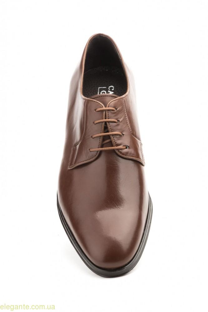 Чоловічі шкіряні туфлі Carlo Garelli коричневі 0