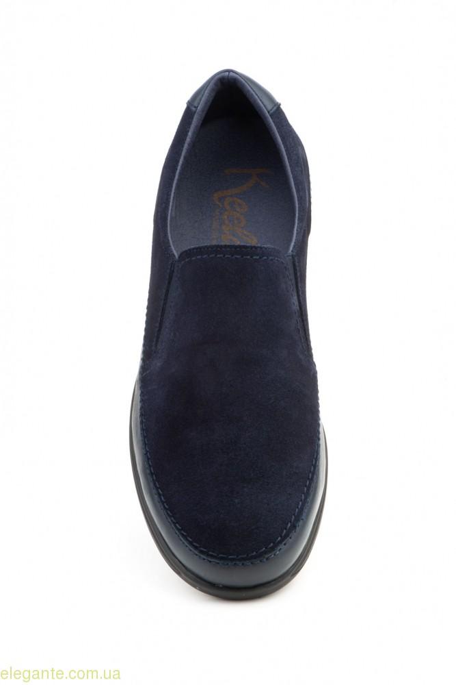 Чоловічі замшеві туфлі KEELAN сині 0