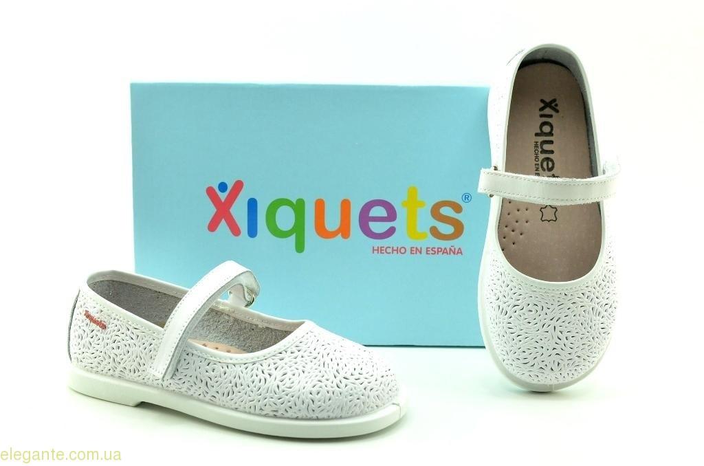 Дитячі туфлі на липучці XIQUETS білі 0