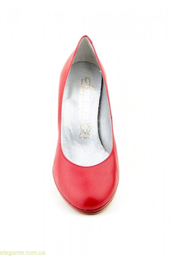 Жіночі туфлі на каблуку  ANNORA червоні 0