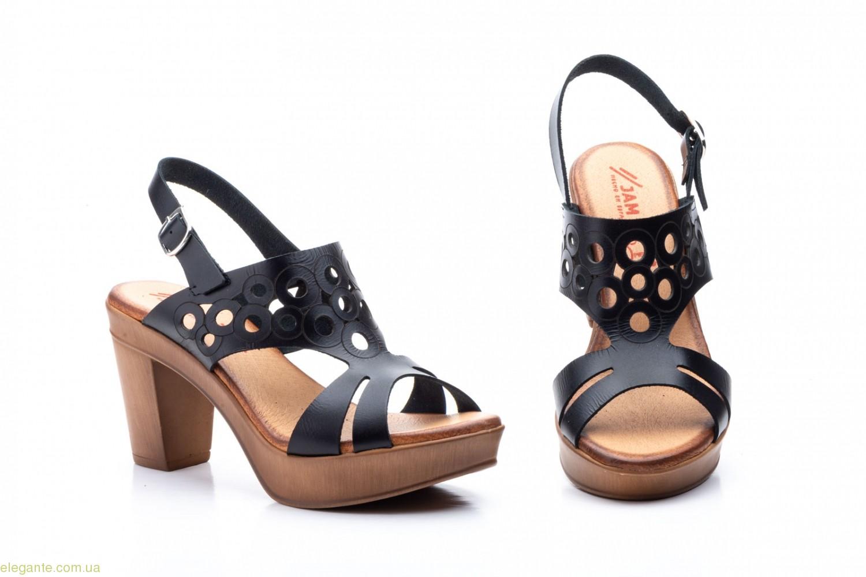 Женские босоножки на каблуке JAM1 чёрные 0