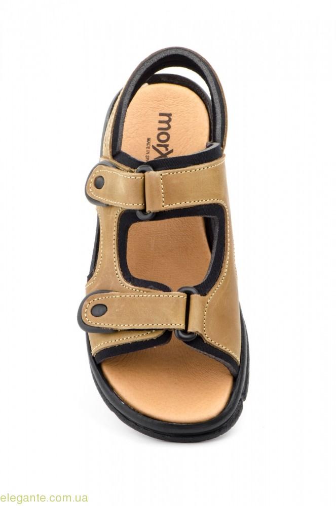 Чоловічі сандалі MORXIVA світло-коричневі 0