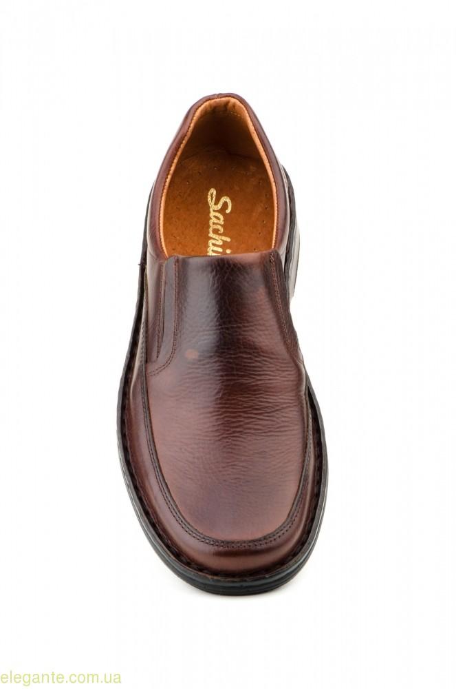 Мужские туфли SCN CRISPINOS еластические коричневые 0