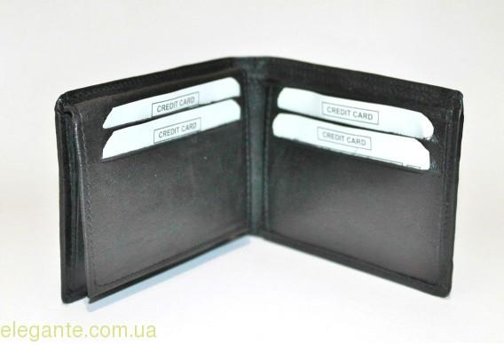 Мужской бумажник чёрный 0