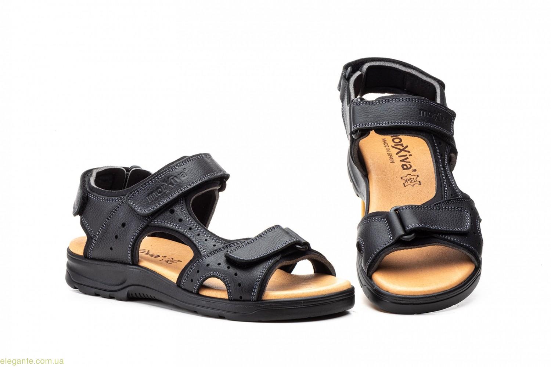Чоловічі сандалі на липучці Morxiva чорні 0
