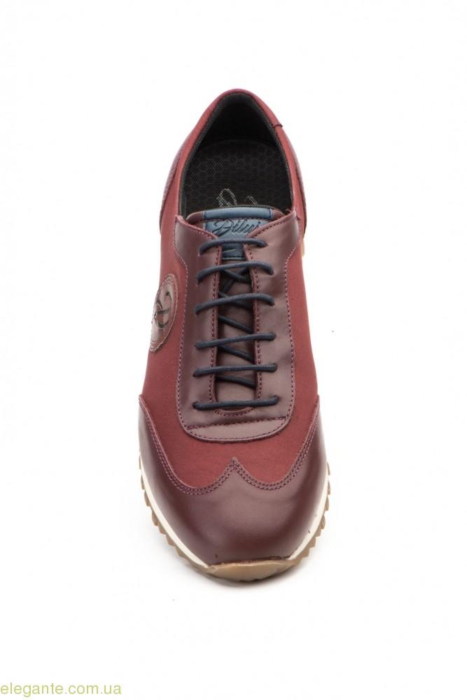 Мужские кросовки Diluis бордовые 0