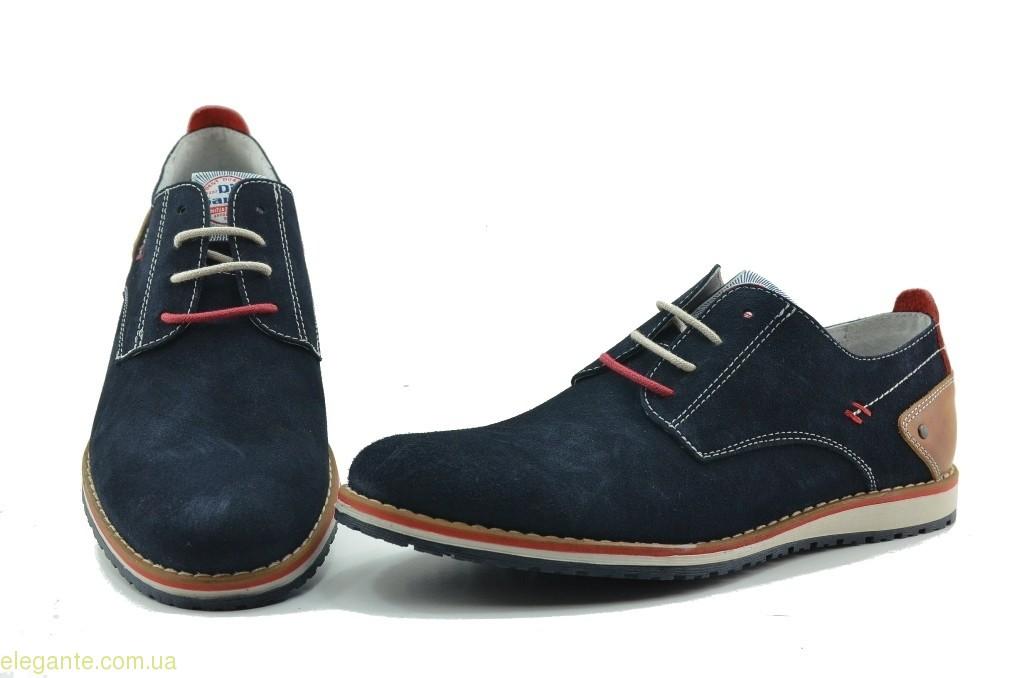 Чоловічі туфлі замшеві  DJ SANTA сині 0