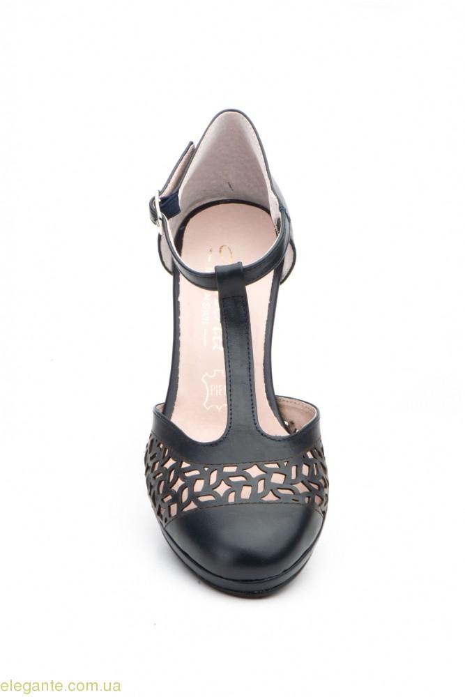 Жіночі туфлі на каблуку ANNORA1 сині 0