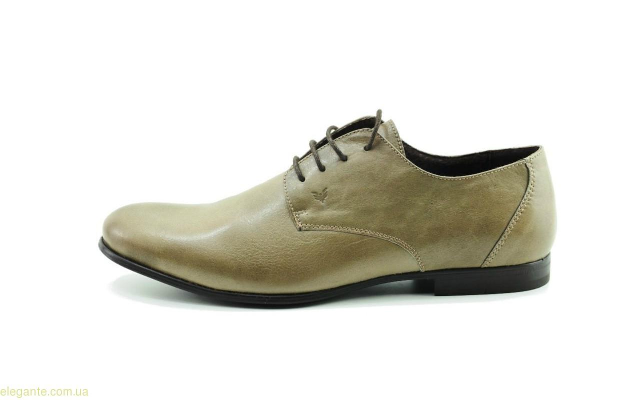 Мужские кожаные туфли BECOOL серо-коричневые 0