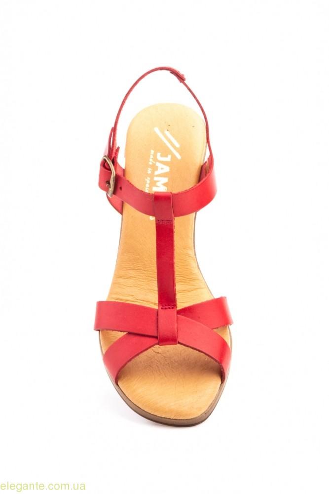 Жіночі босоніжки на каблуку JAM1 червоні 0