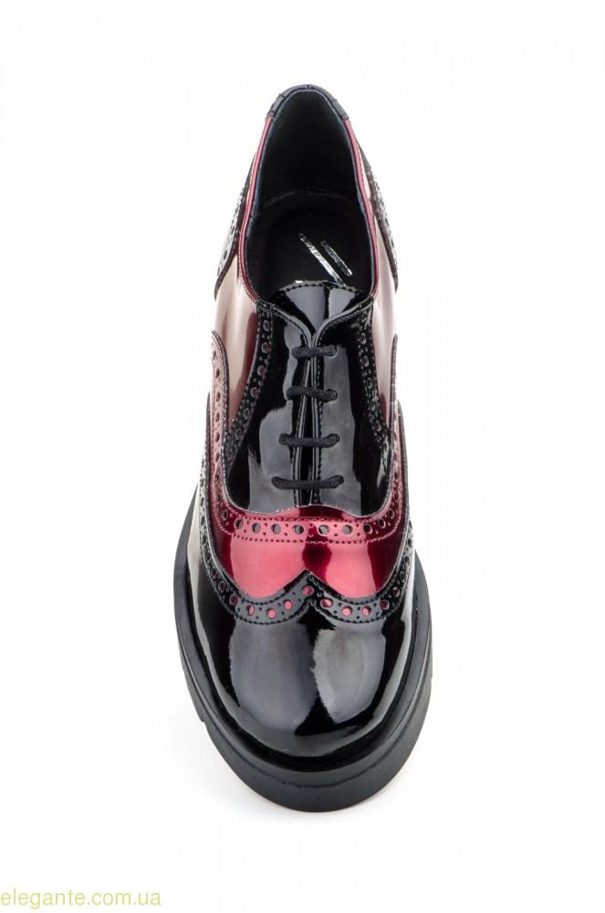 Женские туфли  JAM PLATAFORMA чёрные с красным 0