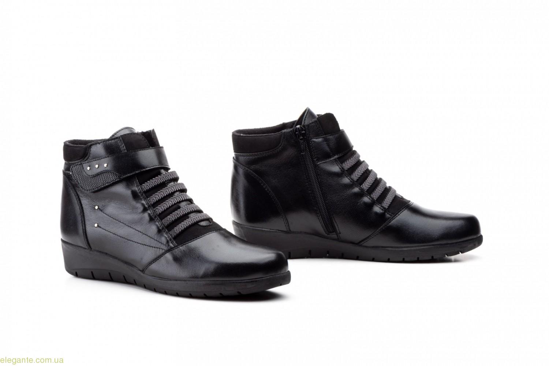 Женские ботинки на липучке JAM чёрные 0