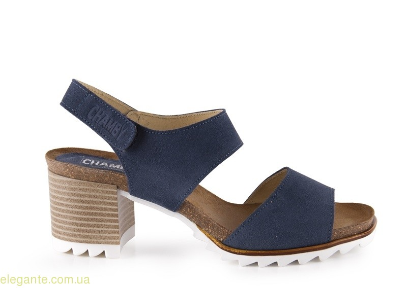 Босоножки на каблуке CHAMBY цвет джынса 0