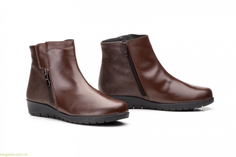 Женские ботинки на танкетке JAM2 коричневые 0