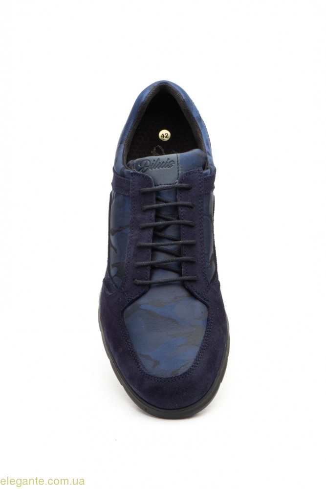 Мужские кросовки замшевые Diluis Militar синие 0