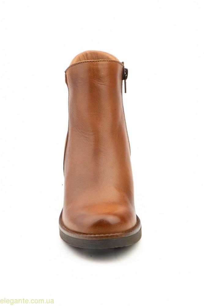 Жіночі черевики на каблуку JAM колір нат.шкіри 0