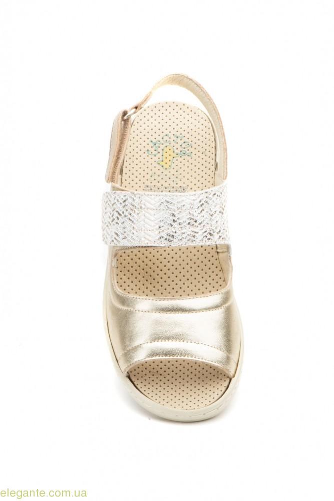 Жіночі босоніжки на липучці Cactus1 колір шампанського 0