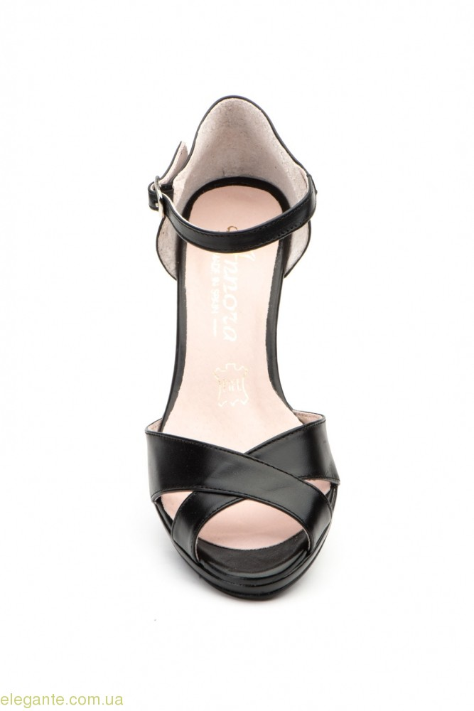 Женские босоножки на каблуке ANNORA чёрные 0
