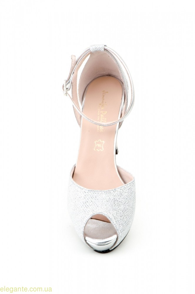 Жіночі туфлі святкові JENNIFER PALLARES срібні 0