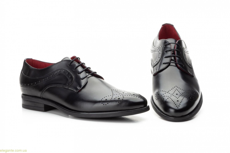 Чоловічі туфлі дербі KEELAN чорні з узором 0
