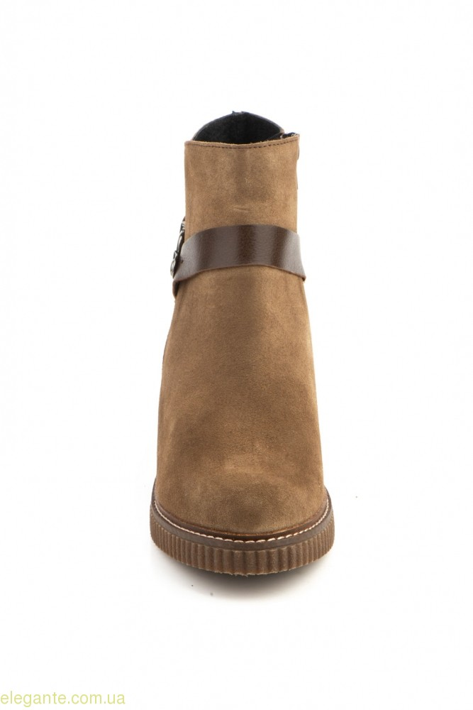 Жіночі черевики із пряжкою  CASTOR коричневі 0