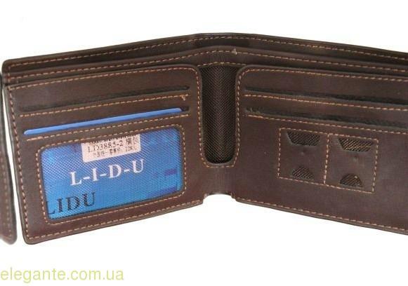 Чоловічий гаманець LIDU чорний 0