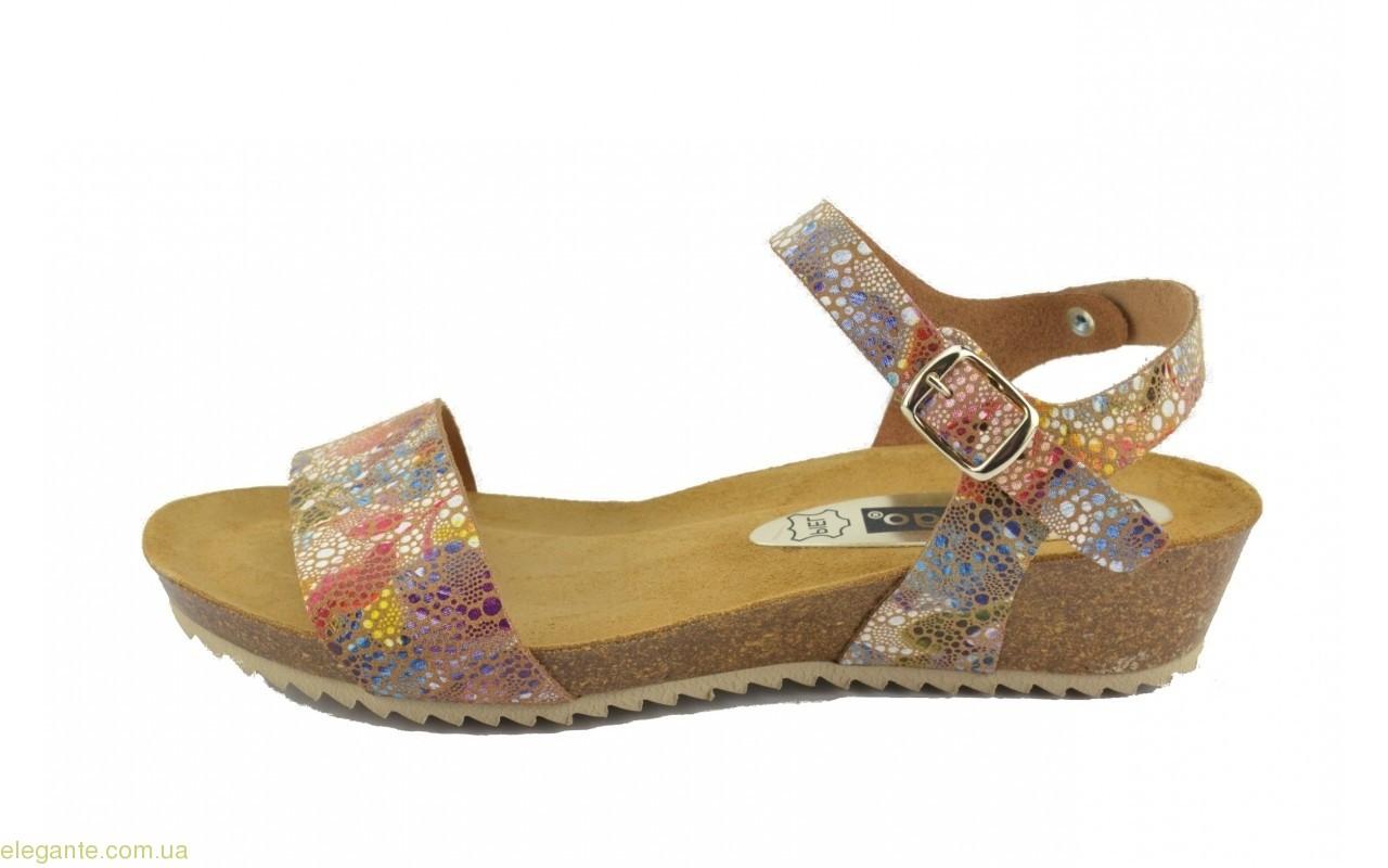 Женские сандалии на корковой танкетке DIGO DIGO многоцветные 0
