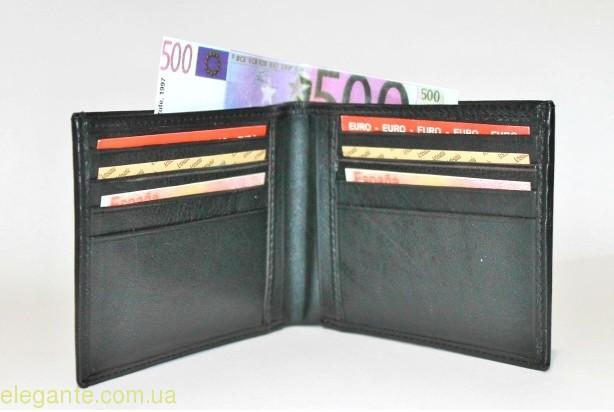 Чоловічий гаманець Livingston коричнева полоска 0