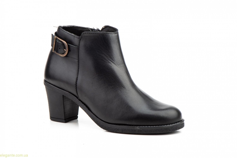 Женские ботинки на каблуке  LAMBUS чёрные 0