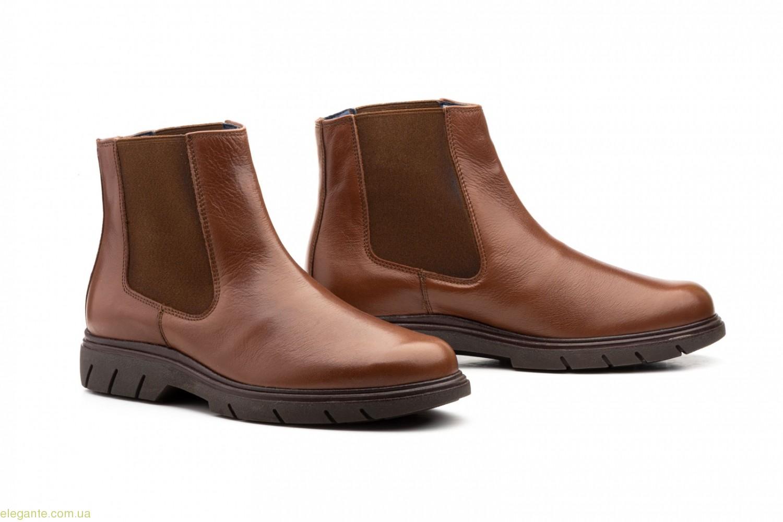 Мужские ботинки еластические Keelan коричневые 0