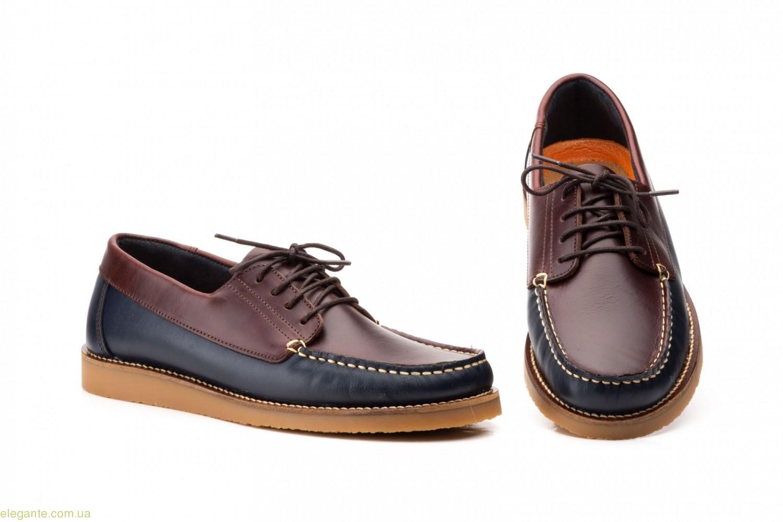 Чоловічі мокасини на шнурках Keelan синьо-коричневі 0
