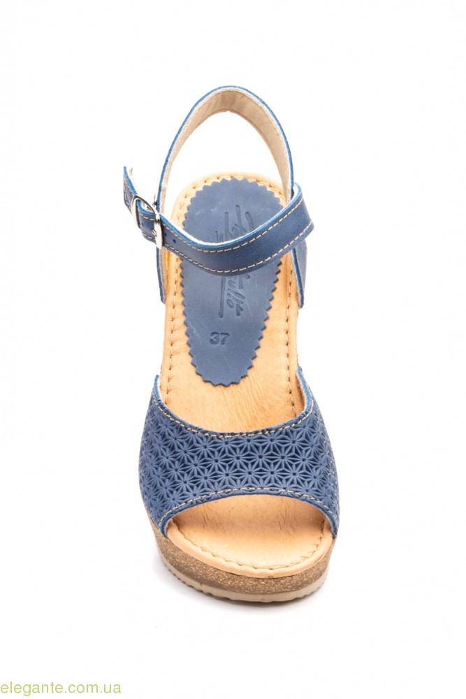 Жіночі босоніжки Pepe Agullo синій-джинс 0
