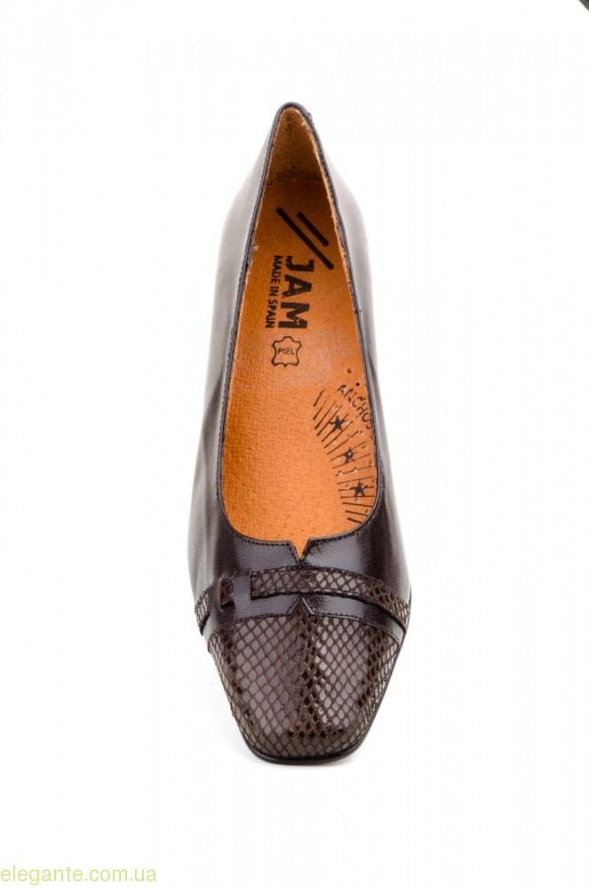 Жіночі туфлі на каблуку JAM1 коричневі 0