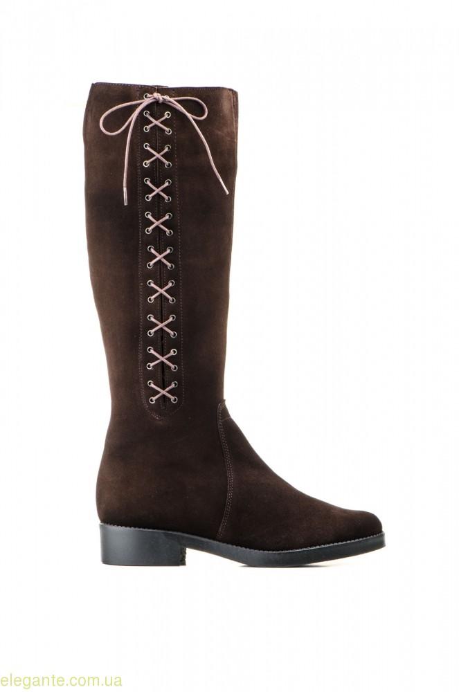 Жіночі чоботи JAM замшеві коричневі 0