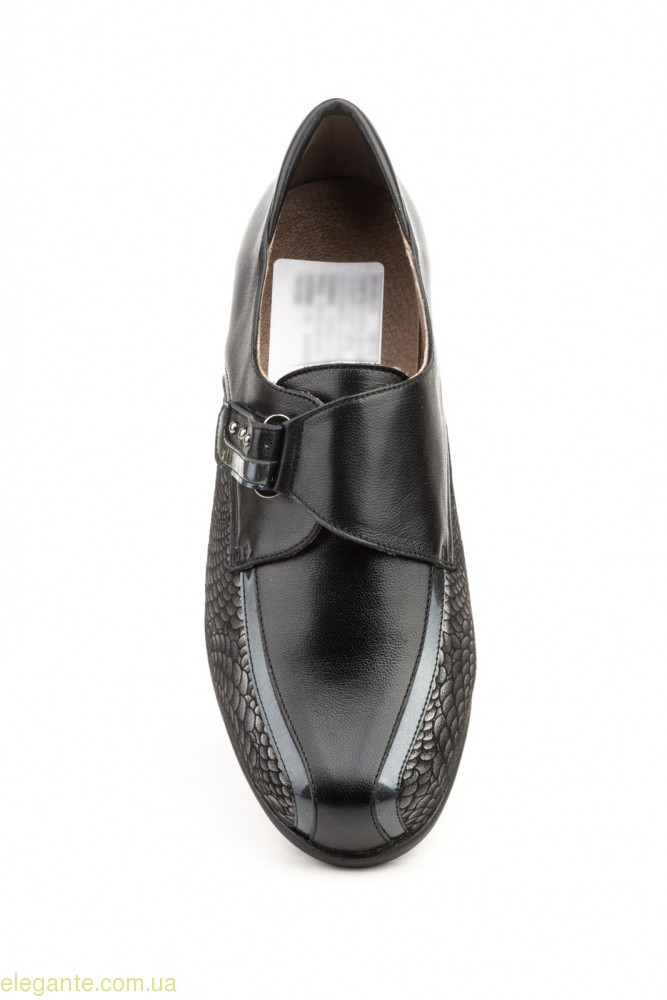Женские туфли на танкетке JAM1 чёрные  0