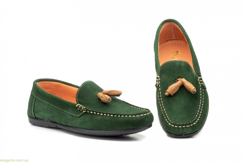 Мужские мокасины с косточками Keelan боско зелёные 0