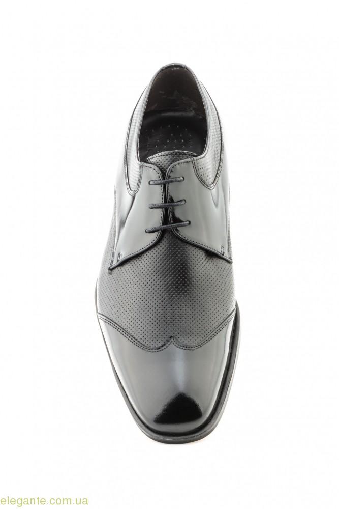 Мужские туфли дерби Nikkoe чёрные 0